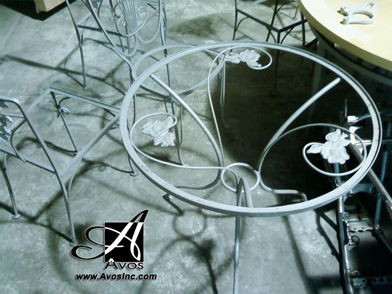 Chairs and Table Sand Blasted