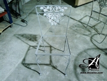 chair sand blasted